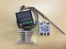 Digital F/C PID Temperature Controller TA4-SNR + K-Type Probe +40A SSR+Heat Sink