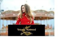 WESTWOOD ANGLOMANIA ONE-OF-A-KIND WOOL COAT VELVET TRIM PEEK-A-BOO DTLS NWT 42