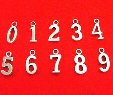 2Sets Tibetan Silver Numbers 0-1-2-3-4-5-6-7-8-9 Charms Pendants Findings Ws56