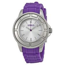 Versus by Versace Tokyo Silver Dial Purple Rubber Ladies Watch SH7010013