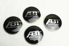 4PCS CAR BLACK NEW ABT ALUMINUM AUTO WHEEL CENTER CAPS STICKER EMBLEM HUBS CAPS
