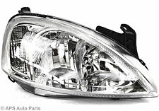 Opel Vauxhaul Corsa C Head Light Lamp RIGHT Side Drivers Chrome NEW Car Van