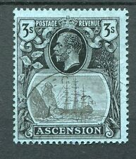 Ascension KGV 1924-33 3s grey-black & black on blue SG20 very fine used