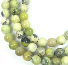 """6mm Natural Yellow Flower Turquoise Round Beads 15.5"""""""