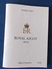 Royal Ascot Programme / Racecard - 2010 - Third Day