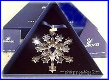 2004 Swarovski~ Snowflake STAR Annual Christmas ORNAMENT~NIB~Rockefeller Center