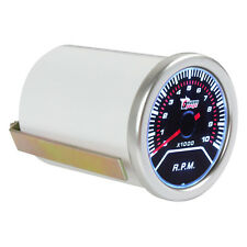 2Inch 52mm 10000 RMP Car Vehicle White LED  Tachometer Tacho Gauge Meter RPM