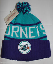 Mitchell & Ness Charlotte Hornets NBA Purple White Turquiose Beanie Cap Hat New