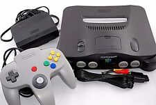 Free Shipping Nintendo 64 Console N64 Grey Color System NTSC-J Japan Very Good
