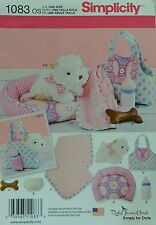 "Simplicity 1083 Sewing PATTERN for 8"" STUFFED PUPPY DOG with LOTS of ACCESSORIES"