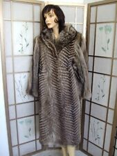SHOWROOM ITEM RACCOON FUR COAT WOMEN SZ 6