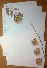 "Christmas Snowman ""Snow Family"" Happy & Festive letter writing paper stationery"