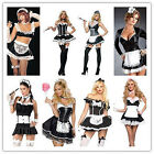 Sexy Ladies French Maid Costume Adult Fancy Dress Up Hens Party Halloween Outfit