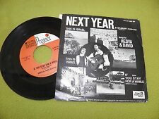 """Hedva and David - Next Year - RARE """"Project 3 Total Sound Stereo"""" 1971 USA 7"""" 45"""