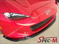 GV Style Carbon Fiber Front Bumper Lip Fit 2016+ Mazda MX-5 MX5 ND Miata