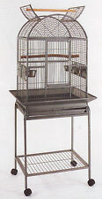 NEW Open Dome Top Wrought Iron Cage For Small Parrot Bird W/Removable Stand 284