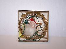 Vintage Christmas multi color 3 way quick flashing Santa Plaque 31 lites lights