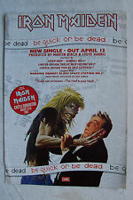 IRON MAIDEN - Be Quick Or Be Dead - 1992 Magazine Advertisment Poster
