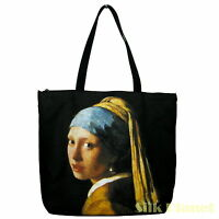 JAN VERMEER Girl with a Pearl Earring TOTE BAG FINE ART PRINT CANVAS SHOPPING *