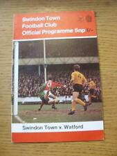 08/09/1970 Swindon Town v Watford [Football League Cup] . Item In very good cond