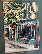 Art Watercolor Serigraph 3/150 The Antique Shop Laurence Lawrence Artist Signed