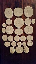25 grand tour cameos intaglios gems seals medallions cameos plaster Colosseum
