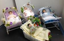 "ASHTON DRAKE DOLLS LOT OF 4 ""SEASONS OF INNOCENCE"" WIRE WICKER STYLE CRADLES"