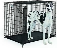 """Great Dane Dog Crate Midwest X Extra Large Huge 45"""" Tall 54""""L With ABS Pan Tray"""