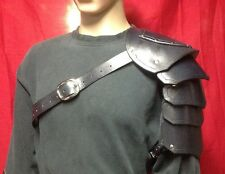 Leather Single Shoulder Armor Renn Faire Cosplay Burning Man Theater Stage TV