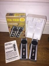 Vintage 1960s Ten-Four Walkie talkies. 40AM Channel CB receiver, 49.860mhz MIB
