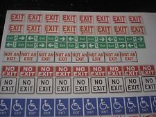 1/18 EXIT / FIRE EXIT signs #1 - for your shop/garage/diorama/accessories