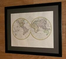 J Russell map - 40x50cm frame. framed map of the world, world maps