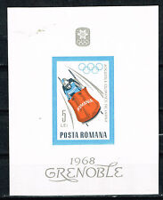 Romania Grenoble Winter Olympic Games Souvenir Sheet 1968 MNH