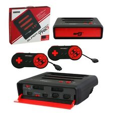 Retro Bit Super RetroTrio 3in1 Nintendo SNES/NES/Sega Genesis Console Black/Red
