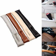 2 PU leather Vehicle car Seat Gap Filler Slot Plug Leakproof Protective Stopper