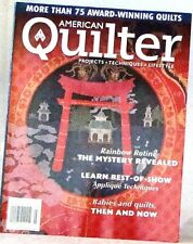 AMERICAN QUILTER Magazine NEW Projects LEARN Best of SHOW Appliques TECHNIQUES