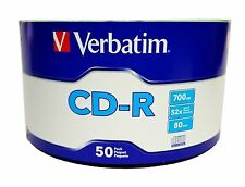 300 Pieces 52X Verbatim Blank CD-R CDR Logo Top Recordable Disc 700MB/80Min