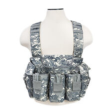 NcStar Vism Airsoft Tactical Chest Rig Vest Harness Molle Mag Pouch Digital Camo