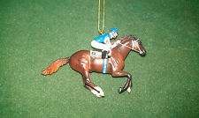 RARE BREYER RACE HORSE CHRISTMAS ORNAMENT - SMARTY JONES KENTUCKY DERBY - NIB