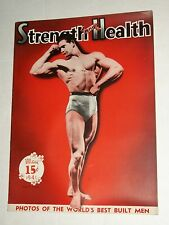 Vintage STRENGTH AND HEALTH May 1941 Body Building Mens Al Berger