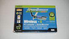 Linksys WMP54GS Wireless-G PCI Adapter for Desktop 2.4 GHz 802.11g Brand New