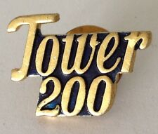 Tower 200 Small Pin Badge Rare Vintage (J2)