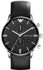 Emporio Armani Black / Silver Quartz Analog Men's Watch AR0397