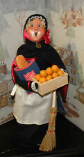 BYERS CHOICE Salvation Army Woman Shopper w Broom Oranges Bread 2013 Hang Tag  *