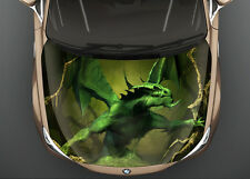 Green Dragon #1 Car Hood Wrap Full Color Vinyl Sticker Decal Fit Any Car