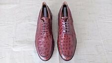 RARE! $1000+ MEZLAN Rust Brown Genuine Crocodile Alligator Loafers Boots Shoe