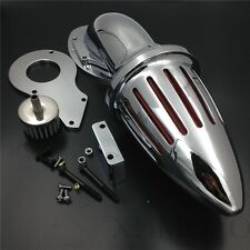 Bullet Air Cleaner Kits Filter For Honda Shadow 600 Vlx600 1999-2012 Chrome