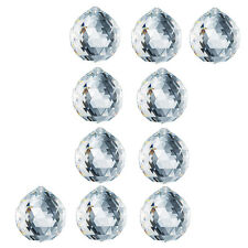(10 PIECES) Faceted CRYSTAL Ball for Fengshui Car Window 40 MM with beading hole