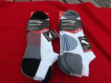 NWT 6 PR Men's Saucony Competition Series Cushioned Running Socks No Show Large