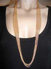 $18 Nordstrom 8-Layer Multi Chain Necklace Twisted Alternating Stations 36""